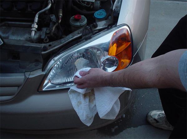 Полировка фар на автомобиле своими руками 21